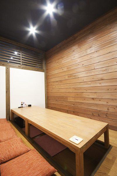 松山市大街道 居酒屋 一進丸 1階 個室テーブル席
